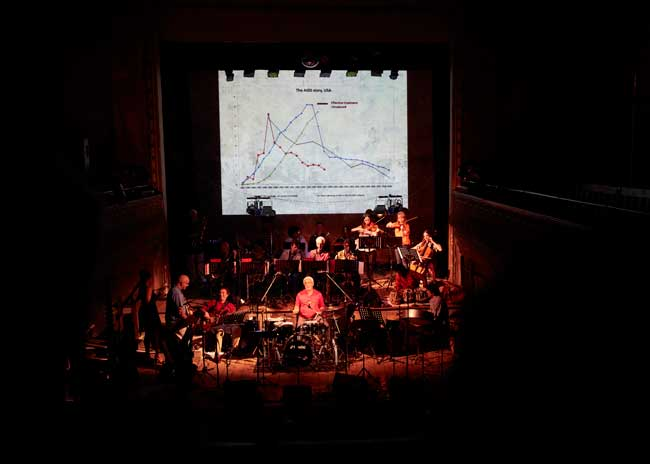 Grand Union Orchestra playing Song of Contagion at Wilton's